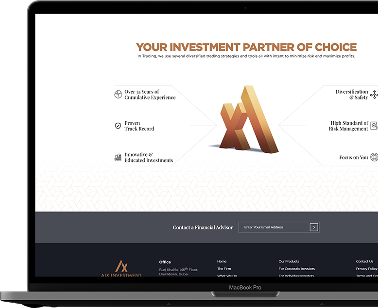 AIX Investment Group - UX Design Development - Element8 Dubai