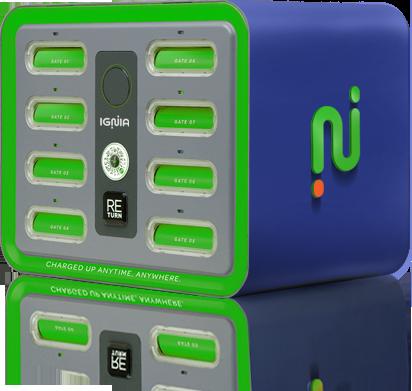Ignia Shared Power Bank Charging Machine Station - Mobile App Development - Element8