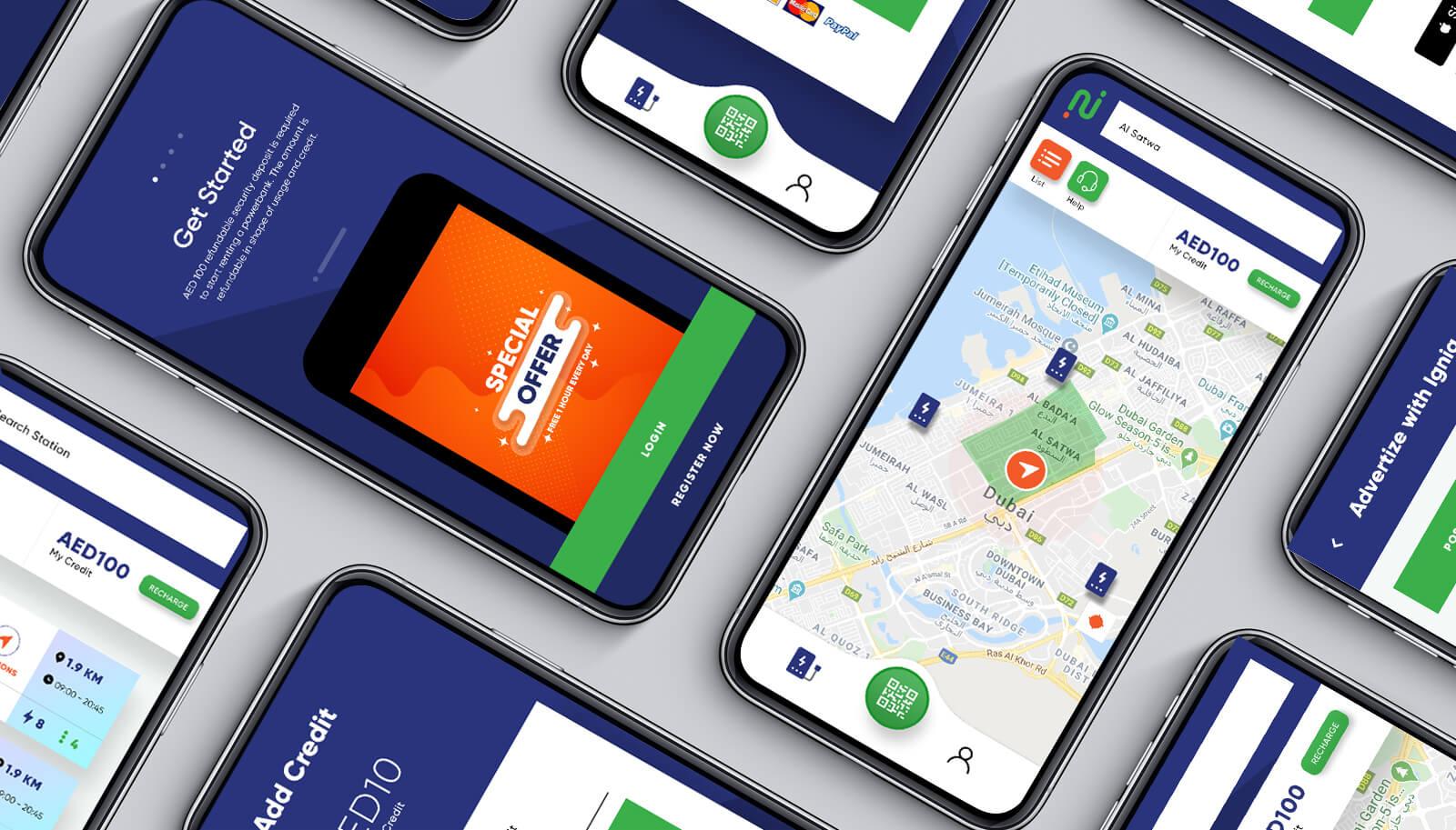 Ignia Power Bank - Mobile App Development - Element8