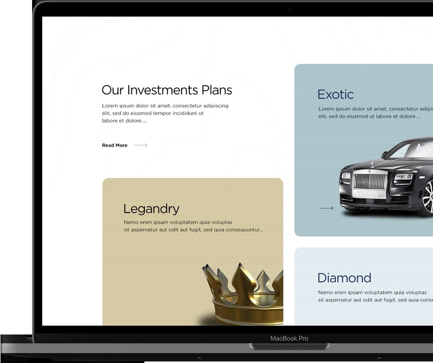 KREANIA Investment plans - Web Application Development - Element8