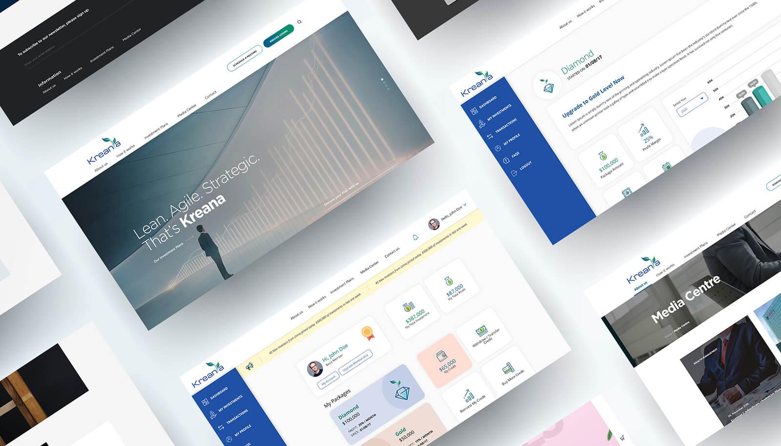KREANIA Investors Platform - Web Application Development - Element8