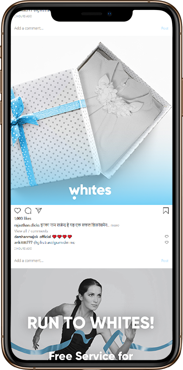 Whites Dry Cleaning & Laundry Service Instgram Marketing - Element8