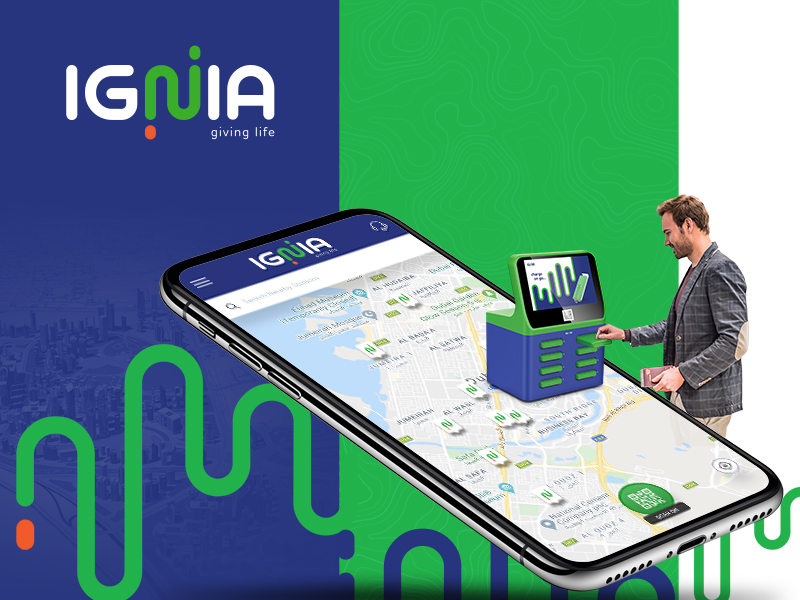 Ignia Shared Power Bank Mobile Application Development - Element8