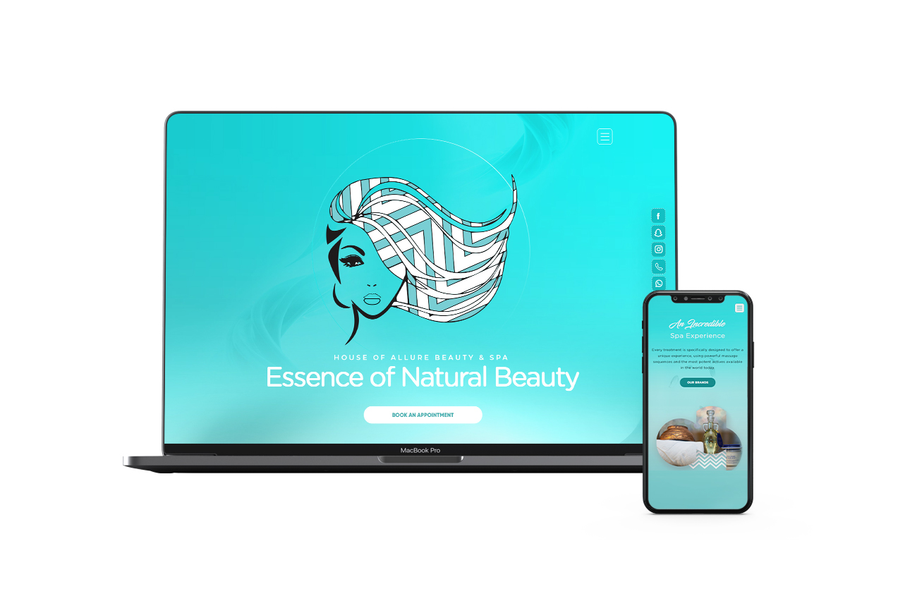 House of Allure - Luxury Beauty Salon & Spa| Website Design & Development By Element8 Dubai